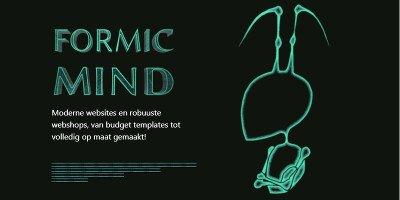 Banner Formic Mind Zwart